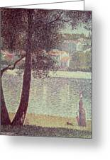 The Seine At Courbevoie Greeting Card by Georges Pierre Seurat