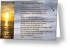 The Serenity Prayer Greeting Card by Barbara Snyder