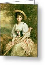 The Shepherdess Greeting Card by Sir Samuel Luke Fildes