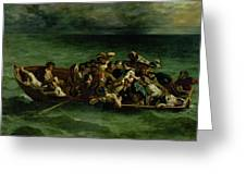 The Shipwreck Of Don Juan Greeting Card by Ferdinand Victor Eugene Delacroix