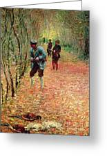 The Shoot Greeting Card by Claude Monet