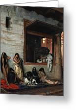 The Slave Market Greeting Card by Jean Leon Gerome