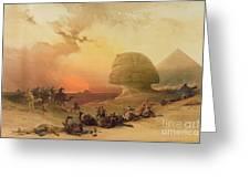 The Sphinx At Giza Greeting Card by David Roberts