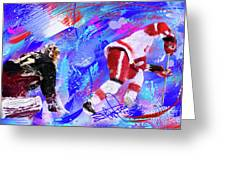The Spin Todd Bertuzzi Greeting Card by Donald Pavlica