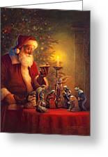 The Spirit Of Christmas Greeting Card by Greg Olsen