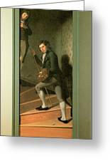 The Staircase Group Greeting Card by Charles Wilson Peale