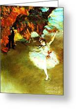 The Star By Edgar Degas Greeting Card by Pg Reproductions