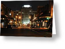 The Strand At Night Greeting Card by John Collins