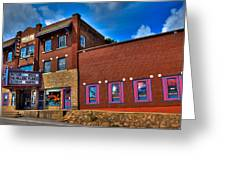 The Strand Theatre - Old Forge New York Greeting Card by David Patterson