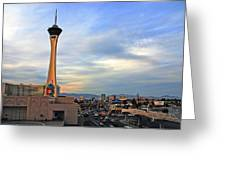 The Stratosphere In Las Vegas Greeting Card by Susanne Van Hulst