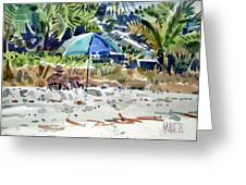 The Sun Bather Greeting Card by Donald Maier