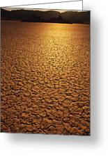 The Sun Reflects Off This Parched Lake Greeting Card by Bill Hatcher
