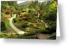 The Sunken Garden At Butchart Gardnes Greeting Card by Darlyne A. Murawski