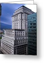 The Sunlife Building In Montreal Greeting Card by Lisa Knechtel