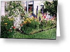 The Tangled Garden Greeting Card by David Lloyd Glover