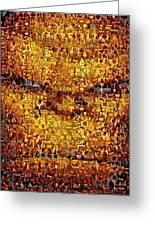 The Thing Mosaic Greeting Card by Paul Van Scott