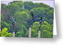 The Three Angels Greeting Card by Bill Cannon