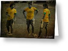 The Three Kings Marcelo Hulk Neymar Os Tres Reis  Greeting Card by Lee Dos Santos