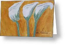 The Three Ladies Greeting Card by Marsha Heiken