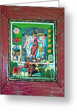 The Three Sisters Greeting Card by Genevieve Esson