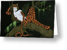 The Tigress Greeting Card by Diane Bombshelter