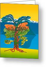 The Tree Of Life. From The Viking Saga. Greeting Card by Jarle Rosseland
