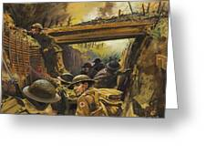 The Trenches Greeting Card by Andrew Howat