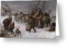 The Underground Railroad Greeting Card by Charles T Webber