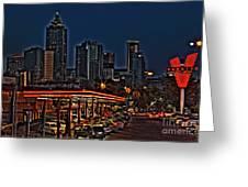 The Varsity Atlanta Greeting Card by Corky Willis Atlanta Photography