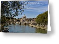 The Vatican By Day Greeting Card by Michelle Sheppard