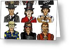 The Versatile Johnny Depp Greeting Card by Sean Williamson