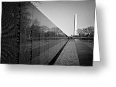 The Vietnam Veterans Memorial Washington Dc Greeting Card by Ilker Goksen