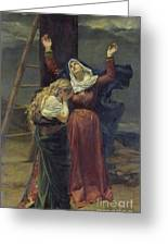 The Virgin At The Foot Of The Cross Greeting Card by Jean Joseph Weerts