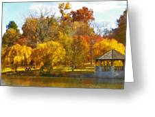 The Vt Duck Pond Greeting Card by Kathy Jennings