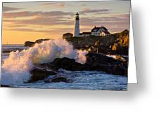 The Wave Greeting Card by Benjamin Williamson