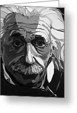 The Weight Of Genius Greeting Card by John Gibbs