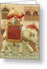 The White Elephant 01 Greeting Card by Kestutis Kasparavicius