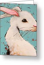 The White Rabbit Greeting Card by Lucia Stewart
