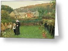 The Widow Greeting Card by Charles Napier Hemy