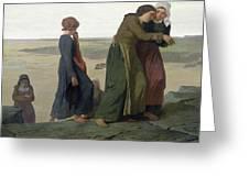The Widow Greeting Card by Evariste Vital Luminais