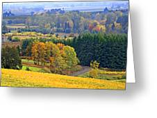 The Willamette Valley Greeting Card by Margaret Hood