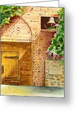 The Winery Greeting Card by Karen Fleschler