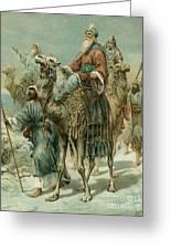 The Wise Men Seeking Jesus Greeting Card by Ambrose Dudley