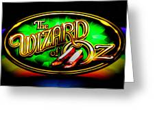 The Wizard Of Oz Casino Sign Greeting Card by David Patterson