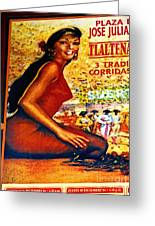 The Woman From Plaza Jose Greeting Card by Olden Mexico