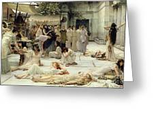 The Women of Amphissa Greeting Card by Sir Lawrence Alma-Tadema