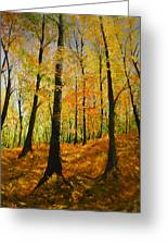 The Wood For The Trees Greeting Card by Lizzy Forrester