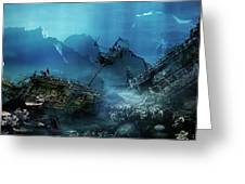 The Wreck Greeting Card by Mary Hood