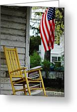 The Yellow Rocking Chair Greeting Card by AdSpice Studios