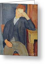 The Young Apprentice Greeting Card by Amedeo Modigliani